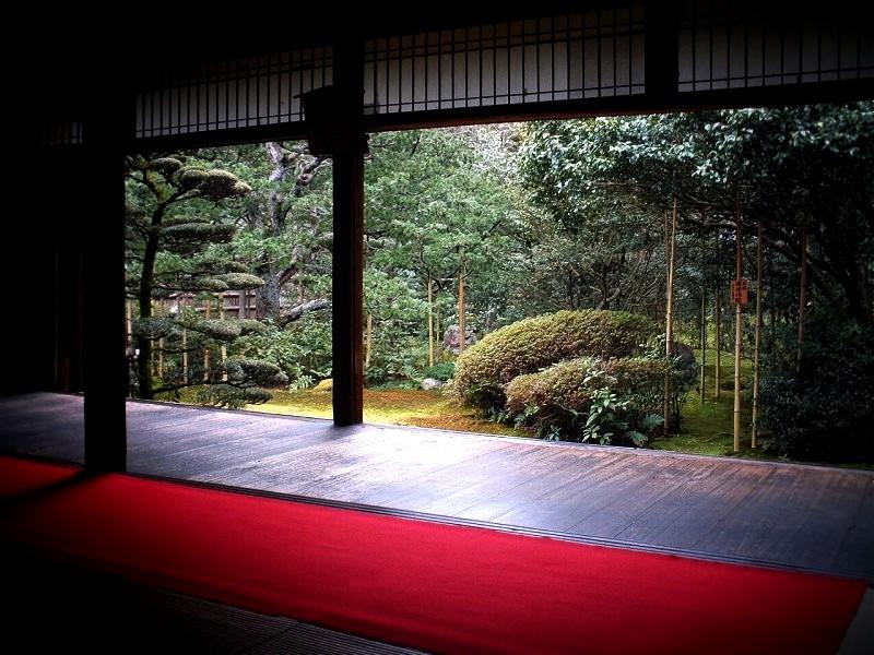 地蔵院 竹の寺 十六羅漢の庭